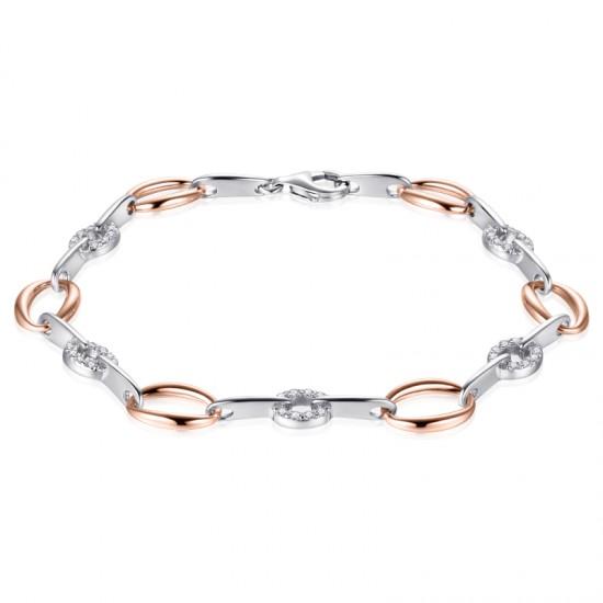 AZRA Armband   Gerhodineerd sterling zilver - B042R
