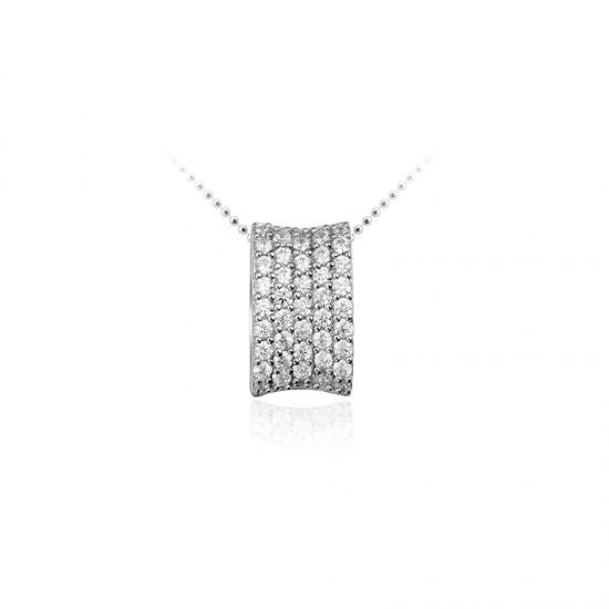 AZRA Hanger | Gerhodineerd sterling zilver - P030