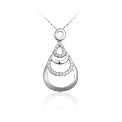 AZRA Hanger | Gerhodineerd sterling zilver - P068
