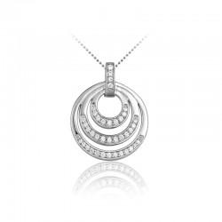 AZRA Hanger | Gerhodineerd sterling zilver - P078