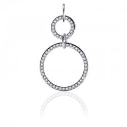 AZRA Hanger | Gerhodineerd sterling zilver - P1047