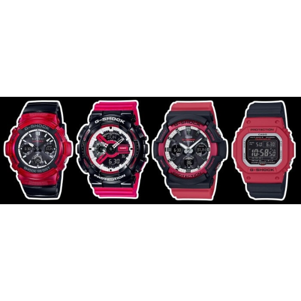 G Shock Zwart Met Rood.Casio G Shock Gw M5610rb 4er Red Black Casio G Shock Gw M5610rb