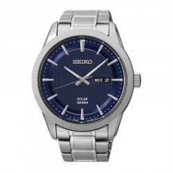 Seiko SNE361P1 Solar Horloge Heren 43mm