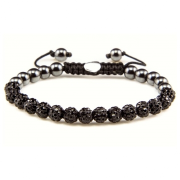 Karma Armband Spiral Black Crystal XS 82082