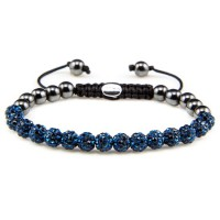 Karma Armband Spiral Blue Crystal XS 82079