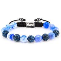 Karma Armband Spiral Blue Jeans 33024