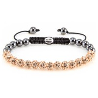 Karma Armband Spiral Champagne Crystal XS 82085