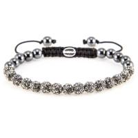 Karma Armband Spiral Grey Crystal 82089 XS