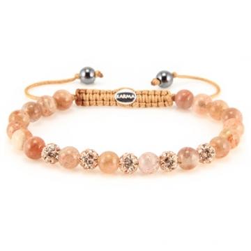 Karma Armband Spiral Peaches XS