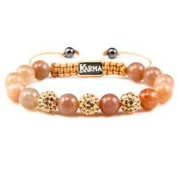 Karma Armband Spiral Salmon 32040