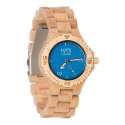 1915 Watches Basic Lady Blue Horloge 38 mm Bamboe