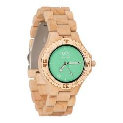 1915 Watches Basic Lady Light Sea Green Horloge 38 MM Bamboe