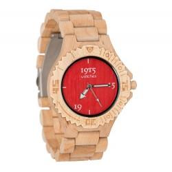 1915 Watches Basic Men Red Horloge 46 MM Bamboe