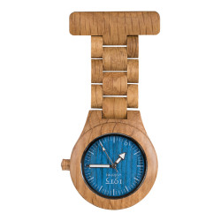 1915 Watches Model-T Oak Blue Verpleegstershorloge Eiken
