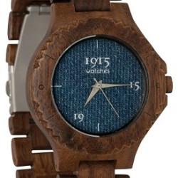 1915 Watches Men Denim Horloge 46 mm Walnoot