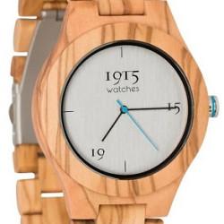 1915 Watches Milano Men Blue Horloge 46 MM Olijf