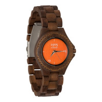 1915 Watches Walnut Lady Orange Horloge 38 mm Walnoot