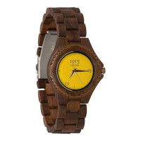 1915 Watches Walnut Lady Yellow Horloge 38 mm Walnoot