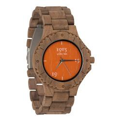 1915 Watches Walnut Men Orange Horloge 46 mm Walnoot
