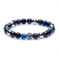 Karma Fear of the Dark Silver round logo Bead 86259 Heren