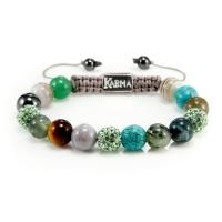 Karma Armband Spiral Green Harmony
