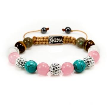 Karma Armband Spiral Pink Pasion