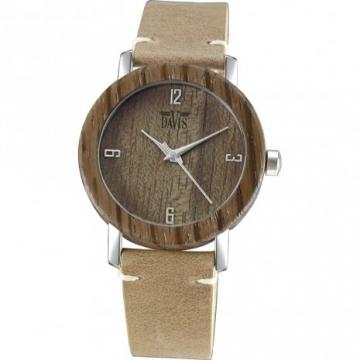 Davis 2131 Timber Hout Horloge 36mm
