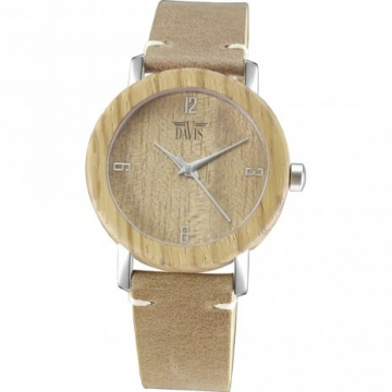 Davis 2133 Timber Hout Horloge 36mm