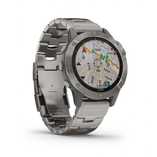 Garmin 010-02158-23 Fenix 6 GPS Smart Titanium 47mm