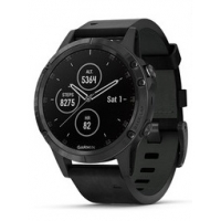 Garmin Fenix 5 Plus Smartwatch 010-01988-07  Zwart Leder 47mm