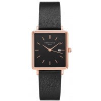 Rosefield The Boxy Black-Black Horloge 33mm