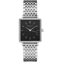 Rosefield The Boxy Black Silver Horloge 33mm