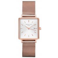 Rosefield The Boxy White-Sunray Rose-Gold Horloge 33mm