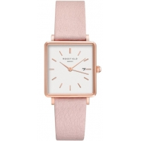 Rosefield The Boxy White-Pink Horloge 33mm