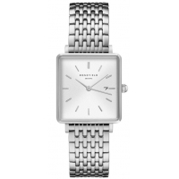 Rosefield The Boxy White-Sunray Silver Horloge 33mm