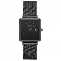 Rosefield The Boxy Zwart-Zwart Horloge 33mm