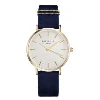 Rosefield The West Village Horloge Blue Gold 33mm