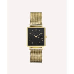 Rosefield The Boxy Black Gold 33mm