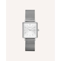 Rosefield The Boxy White Silver 33mm