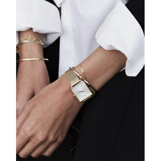 Rosefield The Boxy White Gold 33mm
