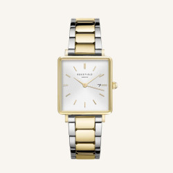Rosefield The Boxy White Sunray Gold-Zilver