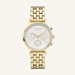 Rosefield The Gabby White Gold 33mm