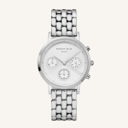 Rosefield The Gabby White Silver 33mm