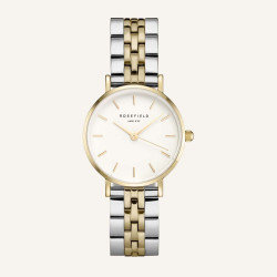 Rosefield The Small Edit White Steel Silver Gold Duo