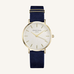 Rosefield The West Village Blue gold 33mm