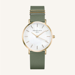Rosefield The West Village Olive Green gold 33mm