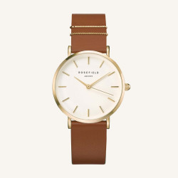 Rosefield The West Village Blush Cognac gold 33mm