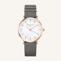 Rosefield The West Village Elephant Grey rosé gold 33mm