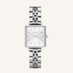 Rosefield The Boxy XS White Silver