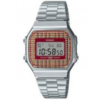 Casio Vintage A168WEF-5AEF Check pattern dial